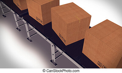 Automated shipment in a warehouse.