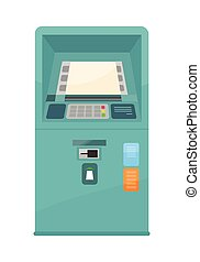 Automated Teller Machine Vector Illustration. - Automated...