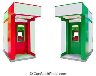 Automated teller machine,ATM isolated on white