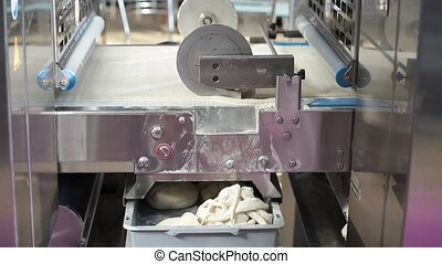 Automatic bakery line working process