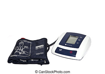 Automatic blood-meter kit isolated on whitebackground