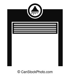 Automatic car wash garage icon, simple style