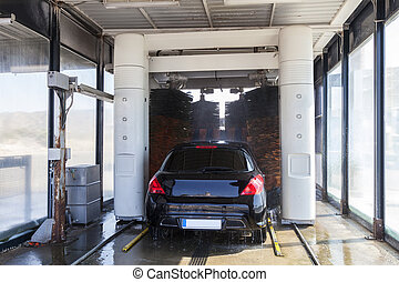 Automatic car wash service