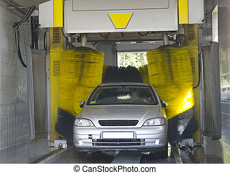 Automatic car wash - very fast and convenient service