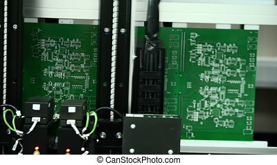 Automatic circuit board testing - Machine for automatic...