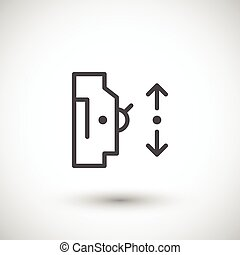 Automatic circuit breaker line icon