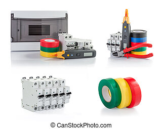 Automatic circuit breakers, insulation tape, tester