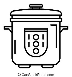 Automatic cooker icon, outline style
