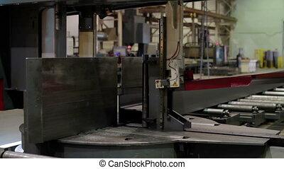 Automatic cutting machine in factory