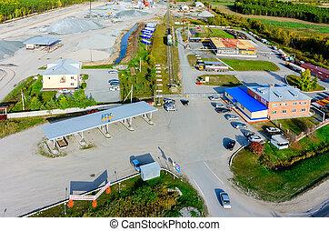 Automatic gas-filling station. Tyumen. Russia