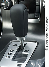 Automatic gear shift of a car, a vertical picture