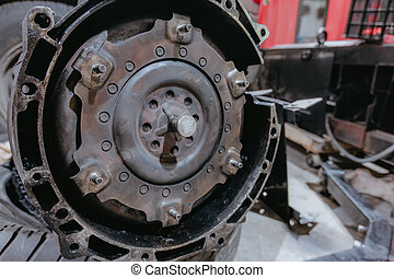 Automatic Gearbox - Automatic gearbox in the car repair shop