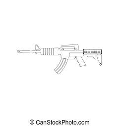 Automatic gun illustration