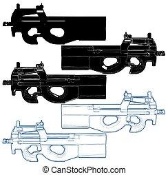 Automatic Gun Vector 10.eps