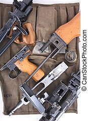 automatic gun  - very nice detail of parts of automatic gun