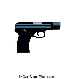 Automatic handgun pistol. Military weapon vector Illustration