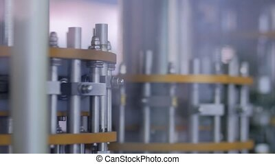 Automatic inspection machine quality control equipment for ampoules - close up