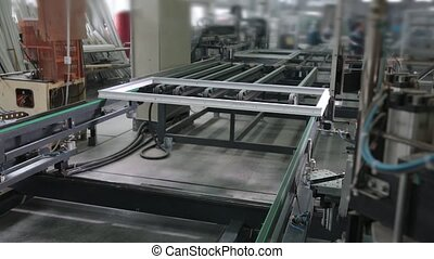 Automatic line machine for sticking PVC sections - Modern...