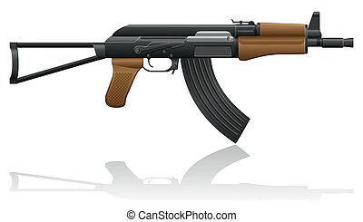 automatic machine AK-47 Kalashnikov vector illustration...