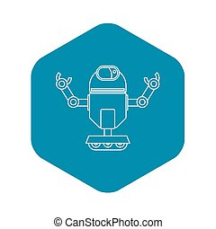 Automatic mechanism icon, outline style