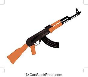 automatic rifle isolated on white background