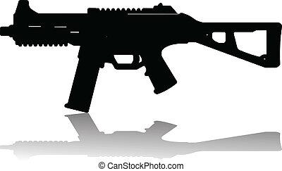 automatic rifle vector illustration