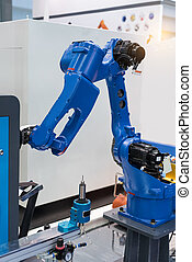 Automatic robotic arm for metal operations