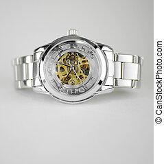 automatic skeleton wrist watch