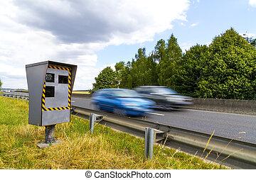 Automatic speed camera - Automatic radar flashing cars...