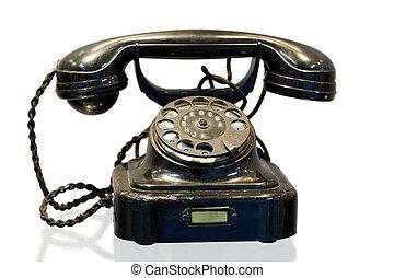 Automatic telephone exchange system desktop phone , model W ...