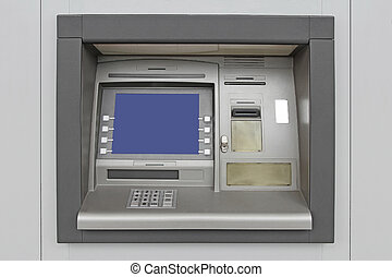 Automatic Teller Machine with Blank Screen in the wall