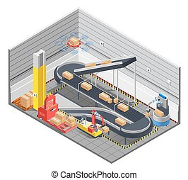 Automatic Warehouse Isometric Interior