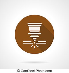 Automatic welding laser brown round vector icon - Abstract...