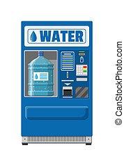 automatico, distributore automatico, con, acqua potabile