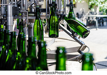 Automation bottling line for produce champagne in Alsace -...