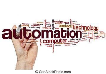 automation, mot, nuage