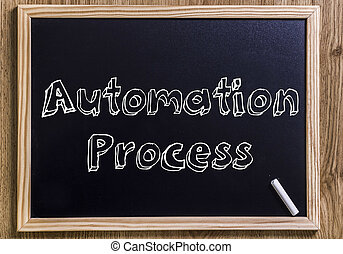 Automation Process - New chalkboard with 3D outlined text