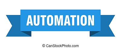 automation ribbon. automation paper band banner sign