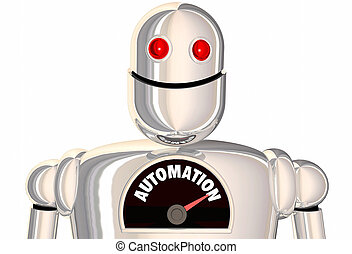 Automation Robot Automated Process Android 3d Illustration