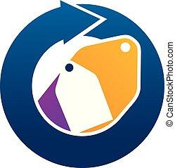 Automation Shopping Logo Design Template Vector
