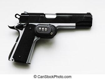 serrure d tente pistolet semi automatique installed image recherchez photos clipart. Black Bedroom Furniture Sets. Home Design Ideas