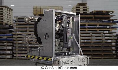 automatique, etagère., 150, grand, platform:, électrique, industriel, kg, inscription, maximum, vide, circuit, poids, casseur, fusibles