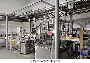 automatisé, étiquetage, machine