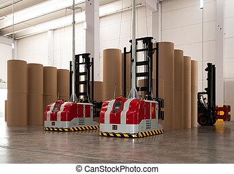 automatisé, entrepôt, (paper)