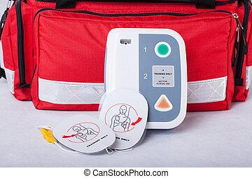 automatisé, externe, défibrillateur