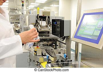 automatisé, ligne production, dans, moderne, usine