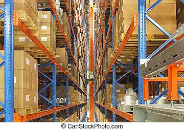 automatisé, stockage, et, récupération, système