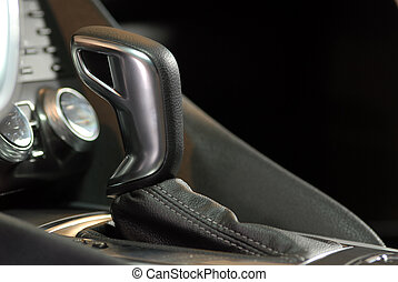 automatisk, gear shift, omgås