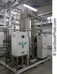 automatisk, vand, filtrering, system