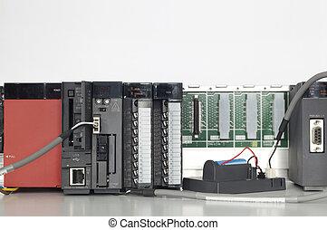 automatización, plc